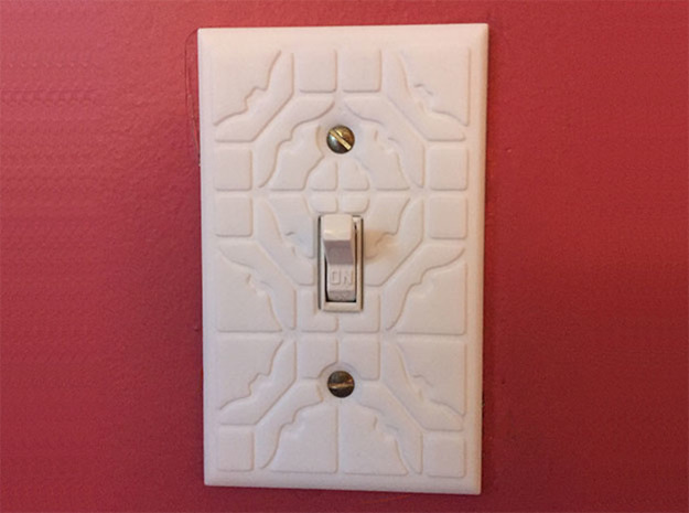 Patterned Light Switch Cover