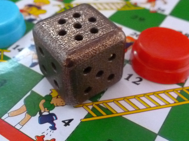 Roll your own dice: steel d6, specify pips